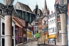 Aachen-Wasserleitung-aquarell
