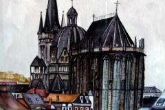 Aachener-Dom-aquarell