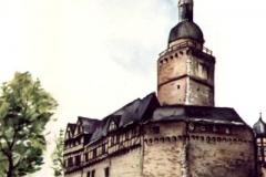 Burg-aquarell