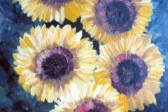 Fünf-Sonneblumen-Acryl