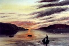 Fischer-im-Fjord-aquarell