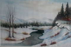 Fluss-im-winter-aquarell