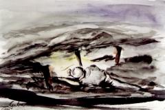 Grubenarbeiter-aquarell