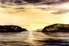 Jarfjord-aquarell