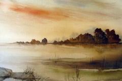Landschaft-aquarell