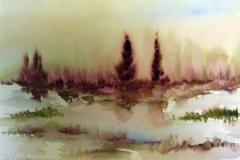 Landschaft-im-Regen-aquarell