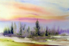 Landschaft-in-Bunt-aquarell