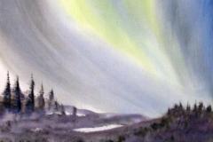 Nordlicht-aquarell