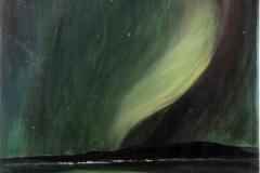 Nordlicht-grün-grün-acryl
