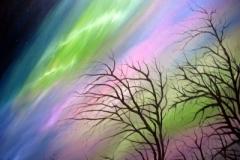 Nordlicht-mit-Bäumen-acryl