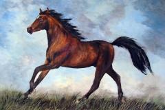 Pferd-braun-acryl