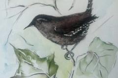 Vögel-und-Efeu-aqurell