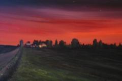 Valne-bei-Sonnenuntergang-acryl
