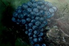 Weintrauben-blau-acryl