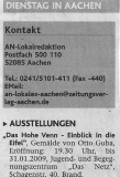 Aachener Zeitung Lokalteil_