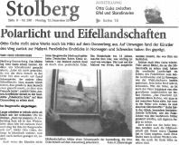 Polarlicht und Eifel Stolberger Zeitung_